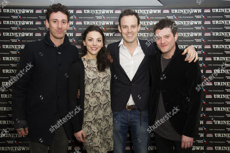 'Urinetown' Press Night at St James Theatre Victoria Al Weaver Naomi Sheldon Harry Hadden-paton and Mathew Horne