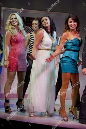 'Wag the Musical' Press Night at the Charing Cross Theatre Curtain Call - Pippa Fulton Alyssa Kyria Lizzie Cundy