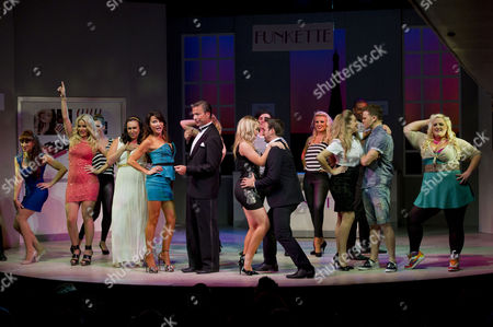 'Wag the Musical' Press Night at the Charing Cross Theatre Curtain Call - Pippa Fulton Alyssa Kyria Lizzie Cundy Tim Flavin Daisy Wood-davis Gavin Alex and Katie Kerr
