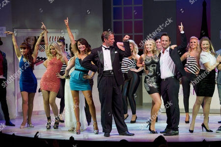'Wag the Musical' Press Night at the Charing Cross Theatre Curtain Call - Pippa Fulton Alyssa Kyria Lizzie Cundy Tim Flavin Daisy Wood-davis and Gavin Alex