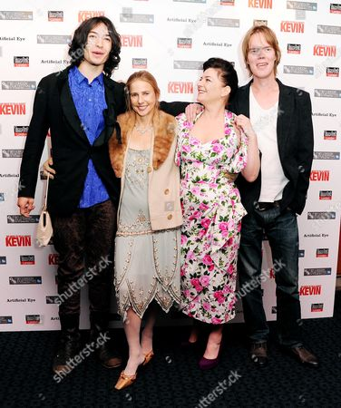 'We Need to Talk About Kevin' Red Carpet During the 55th Bfi London Film Festival at Curzon Mayfair Ezra Miller Lionel Shriver and Lynne Ramsay with Her Husband Rory Kinnear