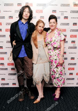 'We Need to Talk About Kevin' Red Carpet During the 55th Bfi London Film Festival at Curzon Mayfair Ezra Miller Lionel Shriver and Lynne Ramsay