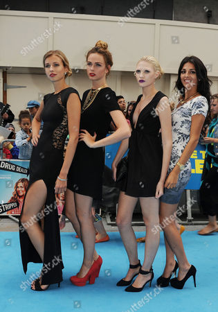 'We're the Millers' Uk Premiere at the Odeon Leicester Square Uk & Ireland Next Top Model Contestants - Naomi Pelkiewicz Sophie Ellson and Emily Garner