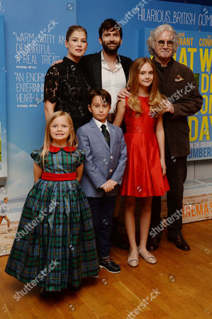 'What We Did On Our Holiday' Premiere at the Odeon Westend Rosamund Pike David Tennant Billy Connolly Bobby Smalldridge Emilia Jones and Harriet Turnball