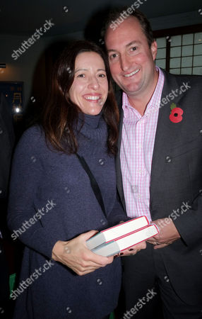 'Winter Games' Book Launch Party at the Draft House Tower Bridge Road Guto Harri with His Wife