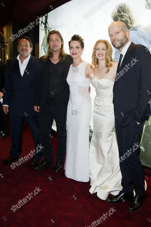 'World War Z' World Premiere Vip Arrivals at the Empire Leicester Square Ludi Boeken Brad Pitt Daniella Kertesz Mireille Enos and Marc Forster
