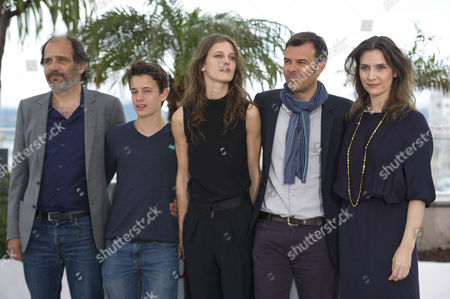 'Young and Beautiful' Photocall at the Palais Des Festivals During the 66th Cannes Film Festival Frederic Pierrot Fantin Ravat Marine Vacth Francois Ozon and Geraldine Pailhas