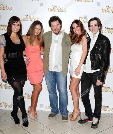 Stock Photo of 'Your Highness' Screening at the Vue Leicester Square Eva Wyrwal Paige Tyler Danny Mcbride Amii Grove and Rasmus Hardiker