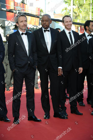 'Zulu' Red Carpet and Closing Night Gala at the Palais Des Festivals During the 66th Cannes Film Festival Director Jerome Salle Forest Whitaker and Conrad Kemp