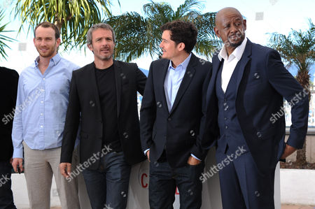 'Zulu' Photocall at the Palais Des Festivals During the 66th Cannes Film Festival Conrad Kemp Director Jerome Salle Orlando Bloom and Forest Whitaker