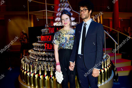 British Independent Film Awards (bifa) at Old Billingsgate Market Richard Ayoade with His Wife Lydia Fox