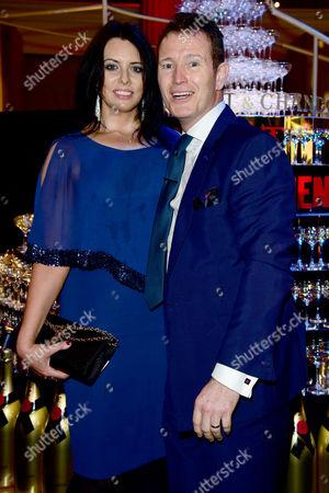 Stock Picture of British Independent Film Awards (bifa) at Old Billingsgate Market Nick Moran with His Girlfriend Dr Jasmin Duran