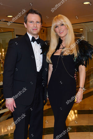 2016 Annual Asian Awards at the Grosvenor House Hotel Emma Noble with Her Husband Conrad Baker