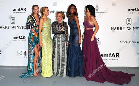 22nd Amfar at Eden Roc Hotel Du Cap During the 68th Cannes Film Festival Toni Garrn Petra Nemcova Caroline Gruosi-scheufele Jourdan Dunn and Kendall Jenner