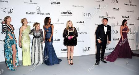 22nd Amfar at Eden Roc Hotel Du Cap During the 68th Cannes Film Festival Toni Garrn Petra Nemcova Caroline Gruosi-scheufele Jourdan Dunn Diane Kruger and Kendall Jenner