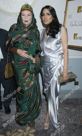 4th Fortune Forum Summit Dinner at the Dorchester Hotel Mayfair Dame Vivienne Westwood and Renu Mehta