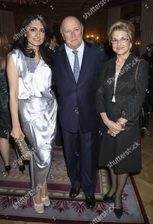 4th Fortune Forum Summit Dinner at the Dorchester Hotel Mayfair Renu Mehta with F W De Klerk with His Wife Elita Georgiades