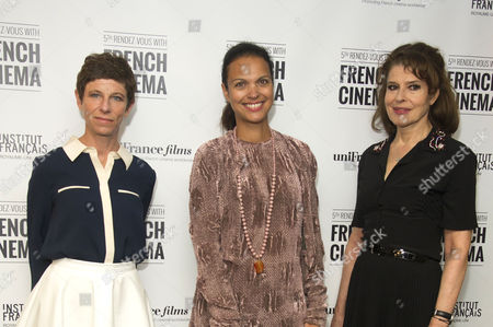 'Bright Days Ahead' Premiere During the 5th Rendez-vous with French Cinema at the Curzon Soho Director Marion Vernoux and Fanny Ardant with the Director of the Festival Isabelle Giordano