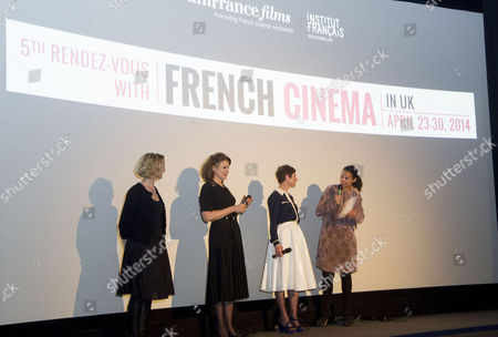 'Bright Days Ahead' Premiere During the 5th Rendez-vous with French Cinema at the Curzon Soho Director Marion Vernoux and Fanny Ardant with the Director of the Festival Isabelle Giordano Introduce the Film