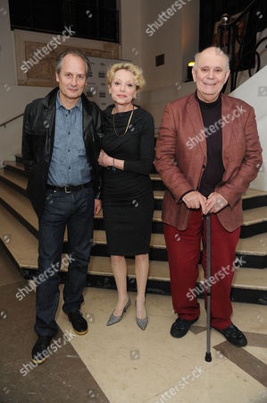 'Life of Riley' Premiere During the 5th Rendez-vous with French Cinema at Cine Lumiere Hippolyte Girardot and Caroline Silhol and Playwright Alan Ayckbourn