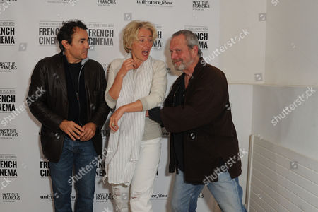 '9 Month Stretch' Premiere During the 5th Rendez-vous with French Cinema at Cine Lumiere South Kensington Director Albert Dupontel Emma Thompson and Terry Gilliam