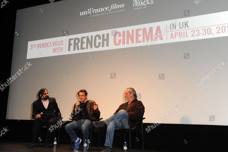 '9 Month Stretch' Premiere During the 5th Rendez-vous with French Cinema at Cine Lumiere South Kensington Director Albert Dupontel with Terry Gilliam Take Part in A Q&a After the Film