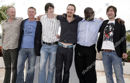 Stock Picture of 61st Cannes Film Festival - Photocall For 'Hunger' Liam Cunningham Stuart Graham Brian Milligan and Michael Fassbender Director Steve McQueen and Liam Mcmahon