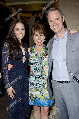 Stock Image of A Curious Night at the Theatre - A Special Fundraising Gala in Aid of Charities Ambitious About Autism and the National Autistic Society at the Apollo Theatre Shaftesbury Avenue Anna Skellern Kathy Lette and Mark Lever