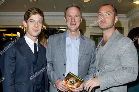 A Curious Night at the Theatre - A Special Fundraising Gala in Aid of Charities Ambitious About Autism and the National Autistic Society at the Apollo Theatre Shaftesbury Avenue Luke Treadaway Mark Lever (chief Executive of the National Autistic Society) and Jude Law