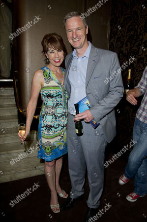 Stock Picture of A Curious Night at the Theatre - A Special Fundraising Gala in Aid of Charities Ambitious About Autism and the National Autistic Society at the Apollo Theatre Shaftesbury Avenue Kathy Lette and Mark Lever