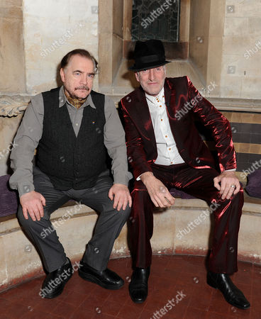 Stock Photo of A Mighty Big if in Association with the Spring Culture Series 2013 at House of St Barnabas Richard Strange in Conversation with Brian Cox Pose Before the Event