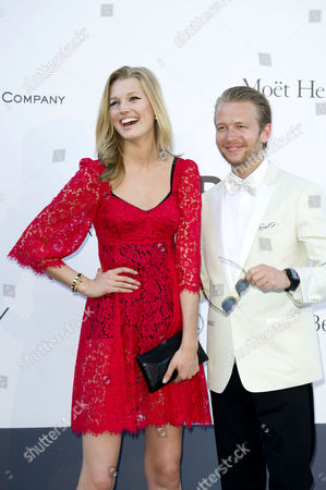 Stock Picture of Amfar Arrivals at the Hotel Du Cap During the 66th Cannes Film Festival Toni Garrn and Michael Lillelund
