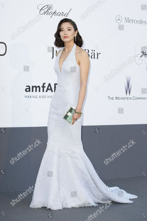 Stock Image of Amfar Arrivals at the Hotel Du Cap During the 66th Cannes Film Festival Zhang Yuqi