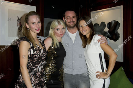 Anchor Bay and Richwater Films Celebration Launch at the Groucho Club Holly Weston Charlie Bond Danny Dyer and Anouska Mond