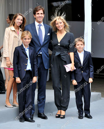 Ark Charity Dinner 2010 at the Eurostar Station Waterloo Crown Prince Pavlos with His Wife Marie-chantal Miller with 3 of Their Children Hrh Princess Maria-olympia of Greece and Denmark Hrh Prince Constantine Alexios of Greece and Denmark and Hrh Prince Achileas-andreas of Greece and Denmark