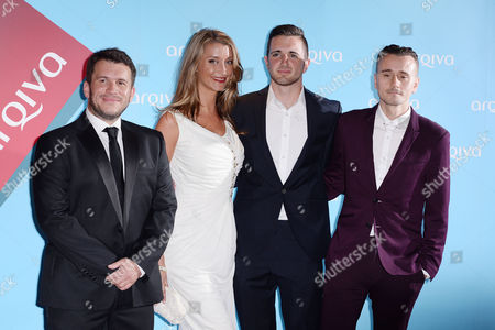 Stock Picture of Arqiva Radio Awards at the Park Plaza Hotel Westminster Richie Firth Sarah Champion Pete Allison and Pete Donaldson (absolute Dj's)
