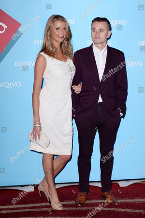 Stock Image of Arqiva Radio Awards at the Park Plaza Hotel Westminster Sarah Champion and Pete Donaldson (absolute Radio Dj's)