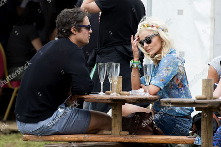 Glastonbury Festival of Contemporary Performing Arts Somerset Backstage Friday Katherine Jenkins with Her Boyfriend Adam Bidwell