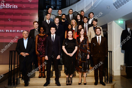 Stock Picture of Bafta Breakthrough Brits at Burberry Regent Street Jonathan Asser Aj Riach Ashley Kendall Callum Turner Charu Desodt Chris Lunt Dan Gray Destiny Ekaragha Katie Leung Marc Williamson Mike Brett Ray Panthaki Reece Millidge Sarah Walker Stacy Martin Steve Jamison Tandis Jenhudson William Pugh with George Mackay Olivia Colman and Sam Claflin