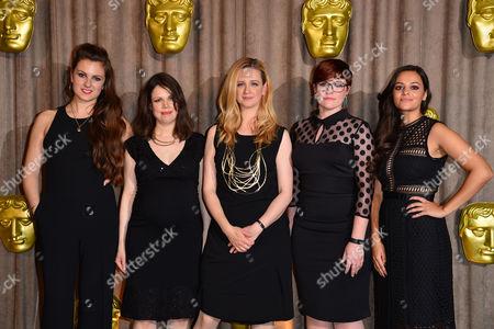 Bafta Breakthrough Brits at Burberry Regent Street Daisy-may Hudson Jenny Saunders Laura Wade Catherine Woolley and Aysha Kala
