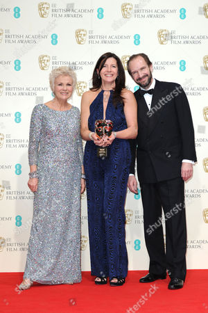 Ee 2015 British Academy Film Awards Press Room at the Royal Opera House Christine Langan (bbc Films) Winner of Outstanding Contribution of Cinema Presented by Julie Walters and Ralph Fiennes