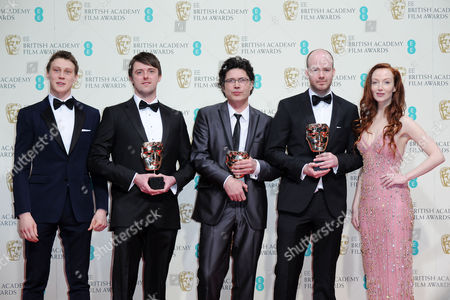 Ee 2015 British Academy Film Awards Press Room at the Royal Opera House Brian J Falconer Michael Lennox and Ronan Blaney - Winners of Best British Short Film 'Boogaloo and Graham' Presented by George Mackay and Olivia Grant
