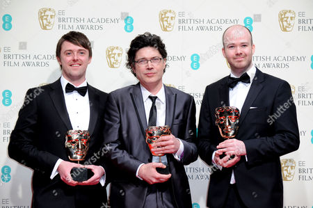 Ee 2015 British Academy Film Awards Press Room at the Royal Opera House Brian J Falconer Michael Lennox and Ronan Blaney - Winners of Best British Short Film 'Boogaloo and Graham'