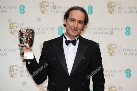 Stock Photo of Ee 2015 British Academy Film Awards Press Room at the Royal Opera House Alexandre Desalt - Winner of Best Original Music Ôthe Grand Budapest Hotel'