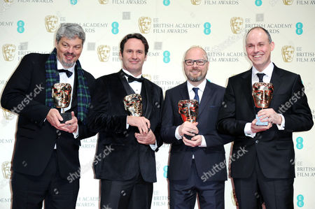 Ee 2015 British Academy Film Awards Press Room at the Royal Opera House Ian Hunter Scott Fisher Andrew Lockley and Paul Franklin - Winners of Best Special Visual Effects - Ôinterstellar'
