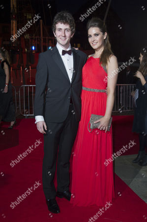 Stock Picture of British Academy Games Awards Arrivals at Tobacco Dock Shadwell Tom Scurr and Anna Passey