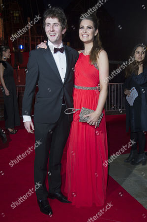 British Academy Games Awards Arrivals at Tobacco Dock Shadwell Tom Scurr and Anna Passey