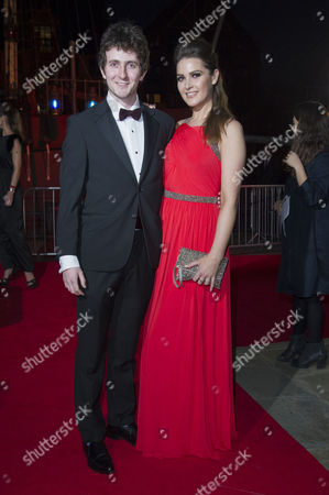 Stock Photo of British Academy Games Awards Arrivals at Tobacco Dock Shadwell Tom Scurr and Anna Passey