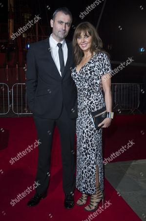 British Academy Games Awards Arrivals at Tobacco Dock Shadwell Carol Vorderman with Her Boyfriend Graham Duff