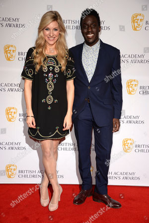 Stock Photo of Bafta Children's Awards Arrivals at the Roundhouse Camden Naomi Wilkinson and Andy Akinwolere